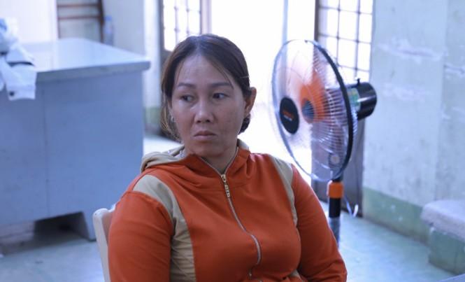 Nữ quái Nguyễn Thị Minh An tại cơ quan công an.