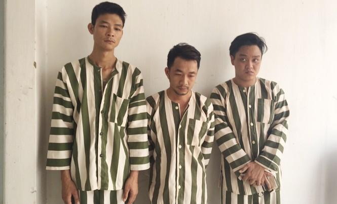 Ba đối tượng Dũng, Tài, Phong tại công an. Ảnh CA.
