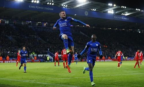 Vardy chấm dứt chuỗi bảy trận tịt ngòi tại Ngoại hạng Anh. Ảnh: Reuters.