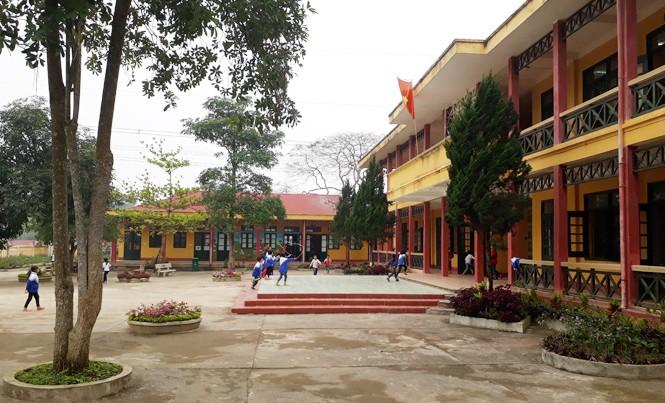 Trường Tiểu học và THCS Yên Lễ. Ảnh: Hoàng Lam.