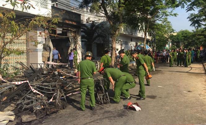 Hiện trường vụ cháy khiến 3 người tử vong.