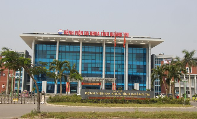 Bệnh viện Đa khoa Quảng Trị, nơi sản phụ Nguyễn Thị Tám tử  vong sau sinh mổ ngày 17/3/2017. Ảnh H.T