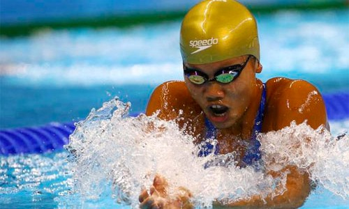 Ánh Viên thi đấu không thành công, do đang trong giai đoạn nhồi thể lực chuẩn bị cho SEA Games 2017. Ảnh: Reuters.