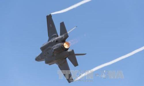 Máy bay chiến đấu F-35 của Không lực Hoàng gia Australia tại Triển lãm hàng không Avalon ở Australia ngày 3/3. Ảnh: AFP/TTXVN.