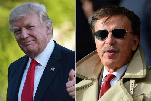 Tổng thống Trump và ông chủ Arsenal (phải) đều là những tỷ phú tại Mỹ.