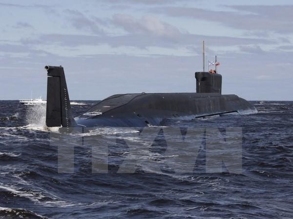 Tàu ngầm hạt nhân Yuri Dolgoruky của Nga. Nguồn: AFP/TTXVN.