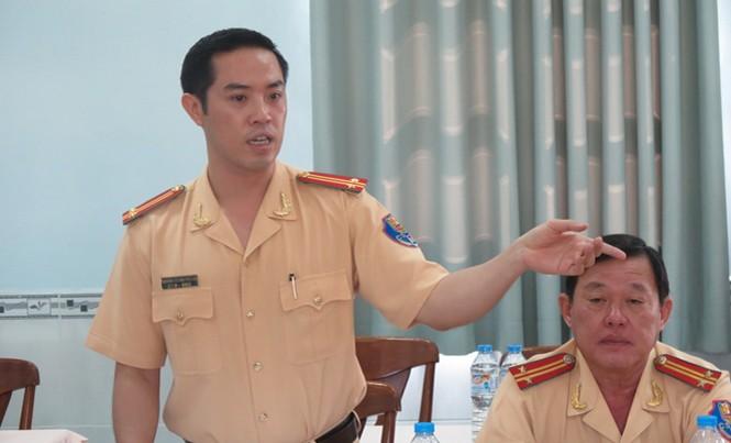 Trung tá Huỳnh Trung Phong, Trưởng phòng CSGT ĐB-ĐS, Công an TPHCM. Ảnh: Việt Văn.