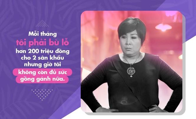NSND Hồng Vân: 'Mỗi tháng tôi lỗ hơn 200 triệu đồng cho 2 sân khấu'