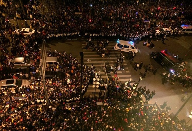 Hình ảnh vụ giẫm đạp kinh hoàng tại Thượng Hải. (Nguồn: news.youth.cn)