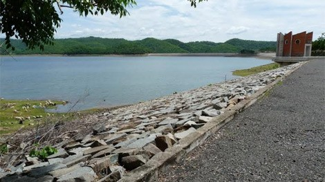 Hồ Sông Quao nơi xảy ra vụ việc.