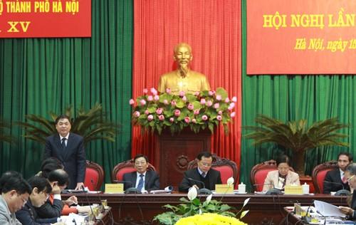 Bế mach hội nghị lần thứ 19 Ban chấp hành Đảng bộ TP Hà Nội khóa XV