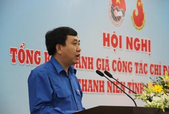 Đồng chí Nguyễn Mạnh Dũng, Bí thư thường trực BCH TW Đoàn TNCS Hồ Chí Minh báo cáo tóm tắt kết quả thực hiện năm thanh niên 2014.