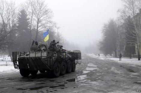 Chiến tranh phía đông Ukraine đã diễn biến phức tạp trở lại vào tháng này (Ảnh: EPA)