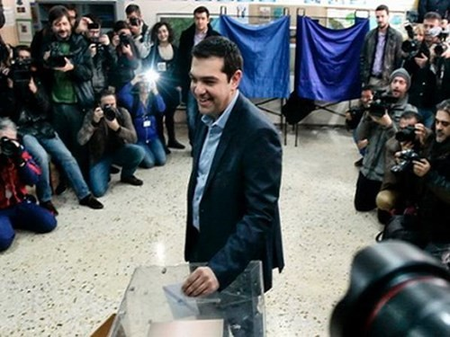Lãnh đạo đảng Syriza Alexis Tsipras tham gia bỏ phiếu bầu cử quốc hội Hy Lạp
