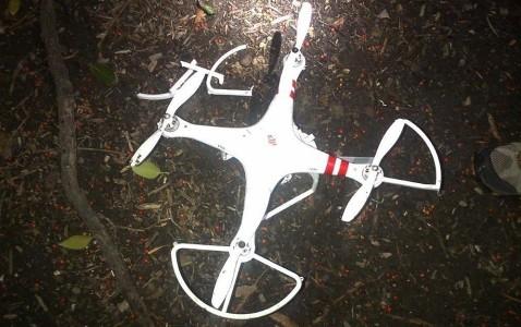 Hình ảnh thiết bị bay không người lái rơi xuống khuôn viên Nhà Trắng (Ảnh AP)