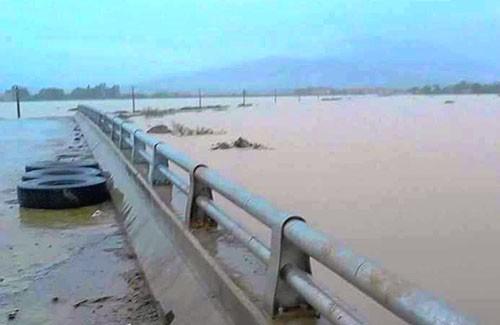 Khu vực nơi hai em Bá và Đạt bị nước cuốn vào ngày 15/10. Ảnh: Vnexpress