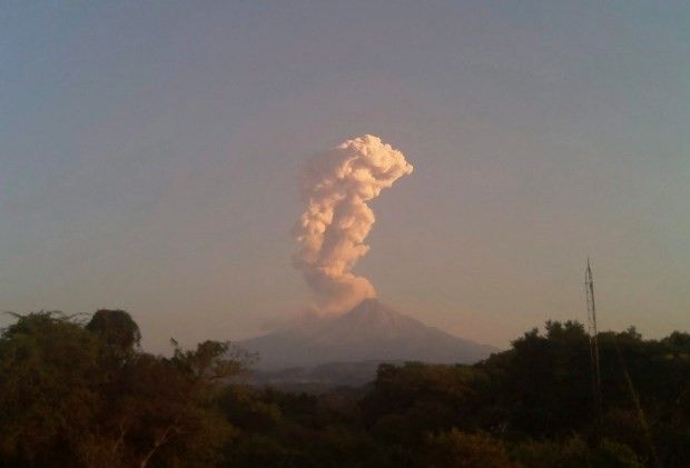 Núi lửa Colima. (Nguồn: AP)