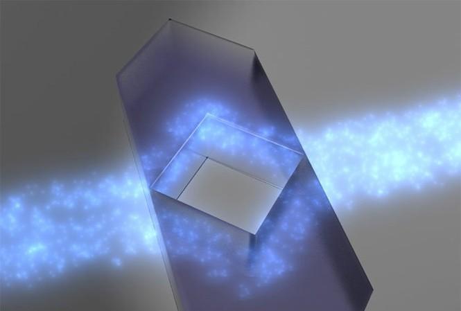 Một mô hình của lớp tàng hình các nhà nghiên cứu đã phát minh ra. (Nguồn: Elhuyar Fundazioa).