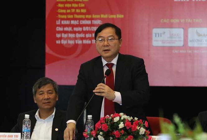 Ông Lê Xuân Sơn – Tổng biên tập Báo Tiền Phong, Trưởng Ban tổ chức Chủ nhật Đỏ 2017 .