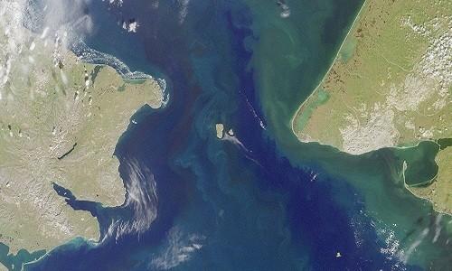 Vùng Siberia, Nga và Bắc Mỹ có thể hợp nhất thành siêu lục địa trong tương lai. Ảnh: NASA.