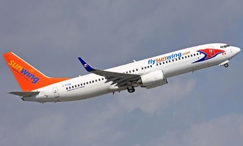 Một máy bay của hãng hàng không Sunwing Airlines. Ảnh: Travel Observers