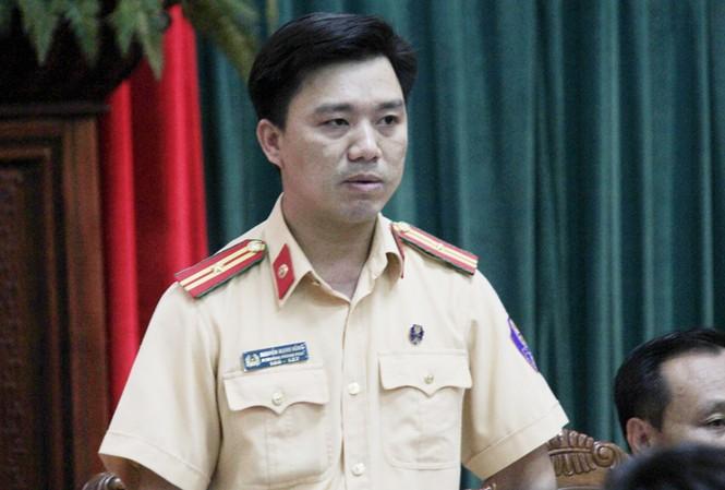 Thiếu tá Nguyễn Mạnh Hùng, Phó trưởng phòng CSGT Đường bộ, đường sắt, Công an TP Hà Nội