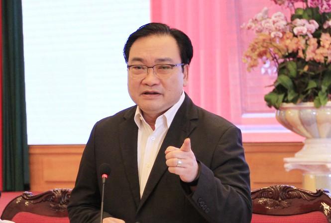 Bí thư Thành ủy Hà Nội Hoàng Trung Hải. Ảnh: Trường Phong