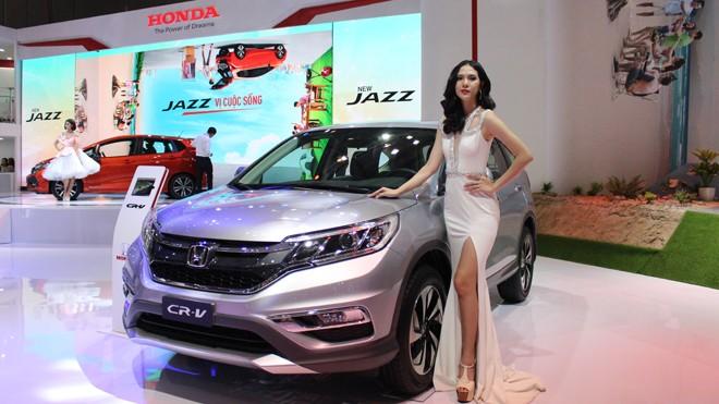 Mẫu xe Honda CR-V được trưng bày tại triển lãm ô tô Việt Nam đầu tháng 8 vừa qua