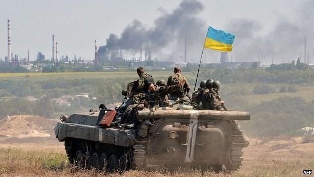 Quân đội Ukraine tại khu vực miền Đông. (Nguồn: AFP)
