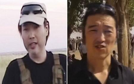 Hai con tin của Nhật Bản bị IS bắt giữ. Ảnh: AP