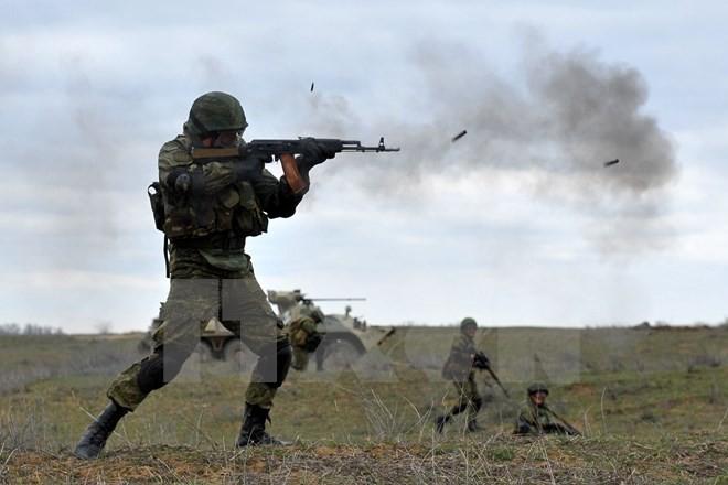 Binh sỹ Nga trong một cuộc tập trận. (Nguồn: AFP/TTXVN)