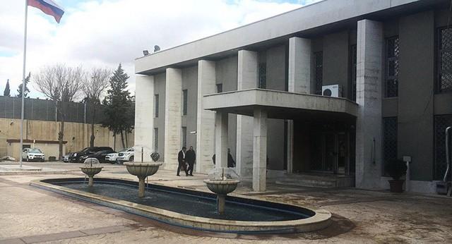 Đại sứ quán Nga tại Syria (Ảnh: Sputnik)