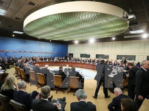 Toàn cảnh cuộc họp tại trụ sở NATO ở Brussels (Bỉ) ngày 6/12. (Nguồn: EPA/TTXVN)