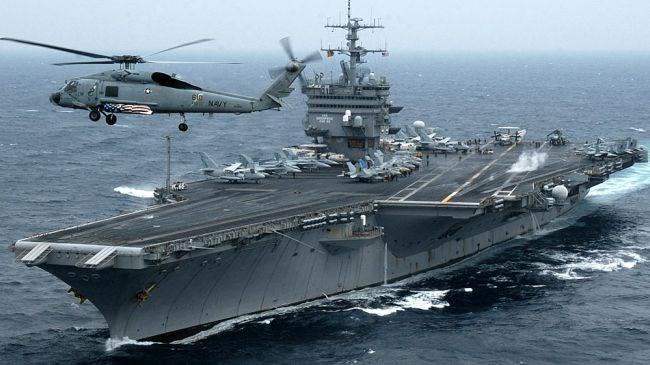 Tàu sân bay Mỹ thuộc biên chế Hạm đội 5 ở Bahrain. (Nguồn; islamicinvitationturkey.com)
