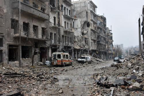 Khu vực do quân nổi dậy kiểm soát ở đông Aleppo ngày 5/12. Ảnh: AFP/TTXVN.