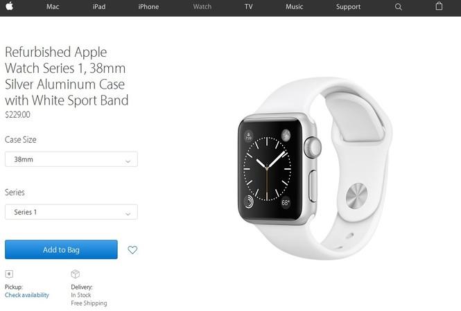 Apple Watch 'mông má' lên kệ chính hãng, giá từ 5 triệu đồng