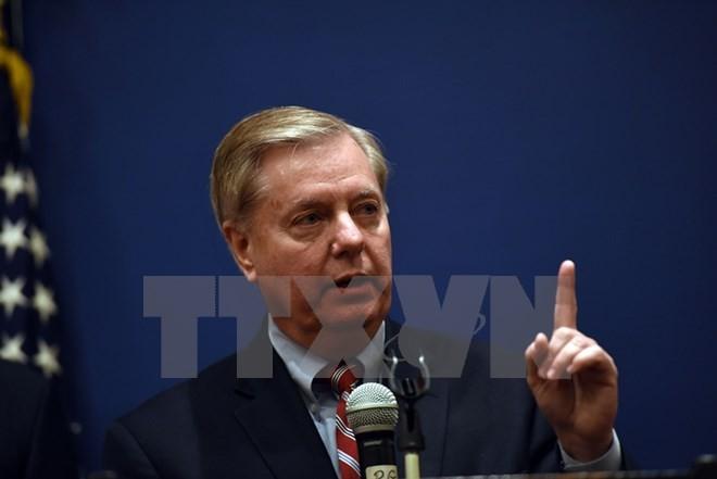 Nghị sỹ đảng Cộng hòa Lindsey Graham. (Nguồn: AFP/TTXVN)