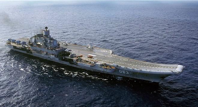 Tàu sân bay Admiral Kuznetsov. (Nguồn: AP)