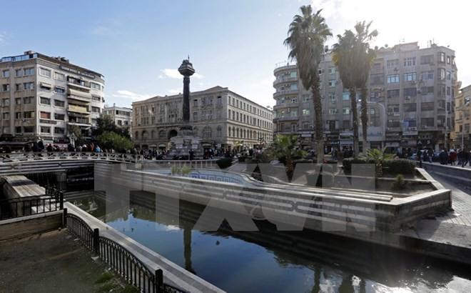 Quang cảnh khu vực Barada, thủ đô Damascus ngày 3/1. (Nguồn: EPA/TTXVN)