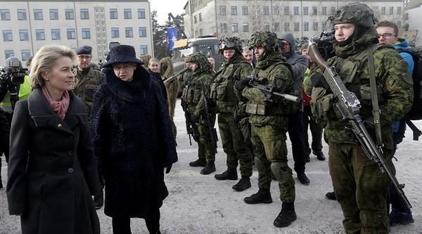 Ngày 7/2, khoảng vài trăm binh sỹ của Đức đã đến Litva để tham gia đội quân đa quốc gia do Tổ chức Hiệp ước Bắc Đại Tây Dương (NATO) triển khai tại đây.