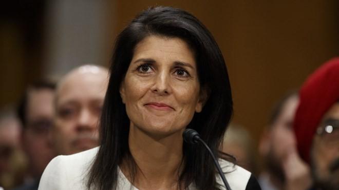 Đại sứ Mỹ tại Liên hợp quốc Nikki Haley. Nguồn: AP.