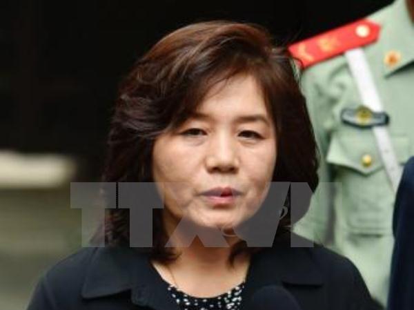 Phái viên cấp cao của Bộ Ngoại giao Triều Tiên Choe Son Hui. (Nguồn: Kyodo/ TTXVN)