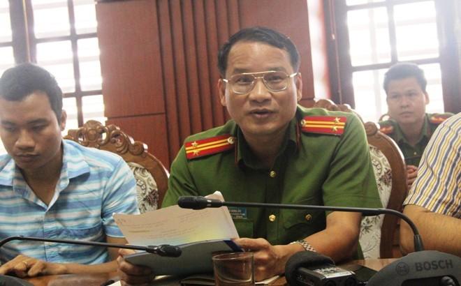 Trung tá Hồ Song Ân – Trưởng phòng PC 49, công an tỉnh Quảng Nam