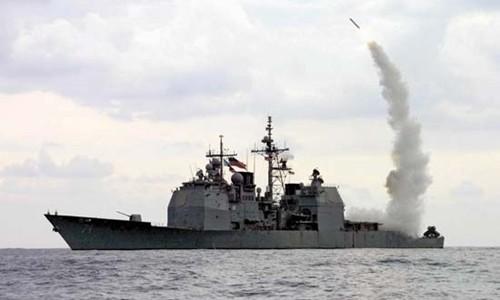 Tàu Cape St. George, hải quân Mỹ, phóng tên lửa hành trình Tomahawk. Ảnh: US Navy.