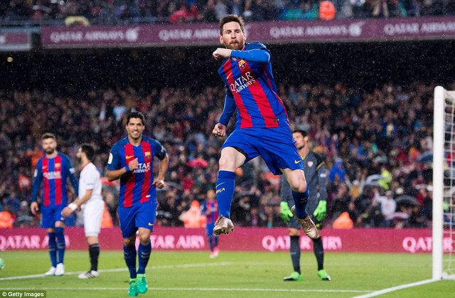 Messi đã có quá nhiều vinh quang khi thi đấu cho Barcelona