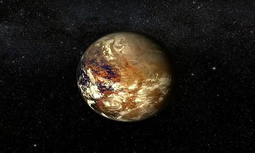 Đồ họa mô phỏng hành tinh Proxima b. Ảnh: ESA.