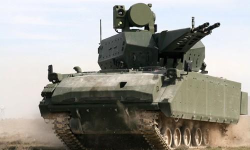 Pháo 35 mm gắn trên hệ thống Korkut có thể khai hỏa 1100 viên/phút. Ảnh: Defense Blog