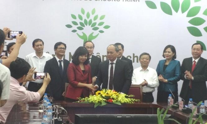"""Lễ ký kết Thỏa thuận phối hợp chỉ đạo chương trình """"Nông nghiệp sạch"""" phát sóng trên VTV."""