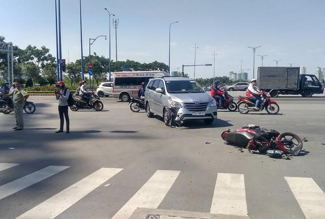 Hiện trường tai nạn.