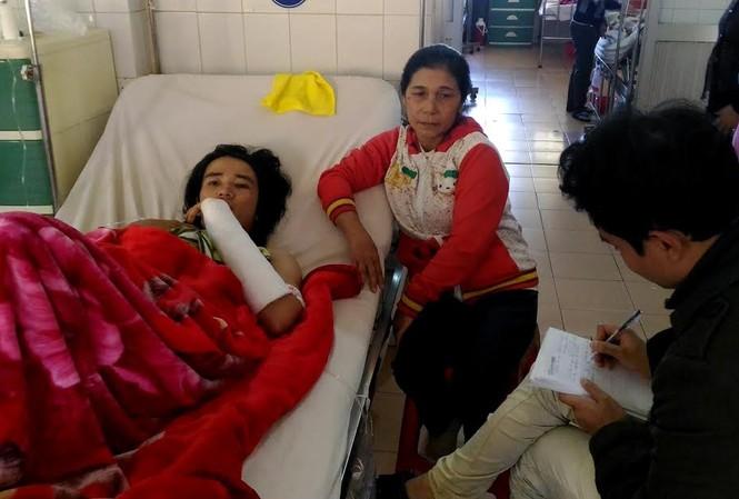 Mẹ con bệnh nhân Nhật tại bệnh viện Đa khoa tỉnh Gia Lai